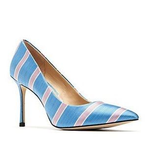 e191f7ae2f3 Katy perry sissy pointed toe striped metallic heel